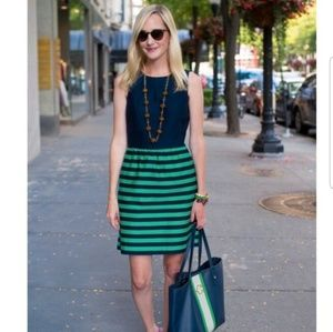 ISO Vineyard Vines green and navy striped dress